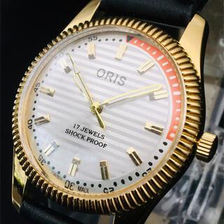 オリス(ORIS)の激レア【オリス ORIS】腕時計/メンズ/機械式手巻き/ビンテージ /ホワイト(腕時計(アナログ))