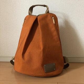 イネド(INED)のバックパック リュック くすみオレンジ(リュック/バックパック)