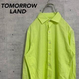 トゥモローランド(TOMORROWLAND)のTOMORROWLAND トゥモローランド シャツ 蛍光黄色 きれいめ S(ステンカラーコート)