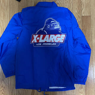 XLARGE エクストララージ コーチジャケット バックロゴ 青 ブルー