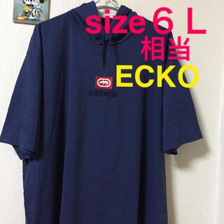 エコーアンリミテッド(ECKŌ UNLTD(ECKO UNLTD))の大きいサイズメンズ*新品 タグ付き ECKO フードTシャツ(Tシャツ/カットソー(半袖/袖なし))