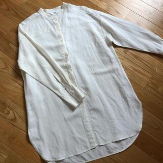 UNIQLO - 【美品】*スタンドカラーシャツチュニックシャツ*