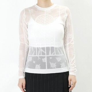 mame - Mame Frosted Glass Graphic Knitted Top