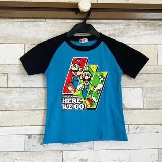 BANDAI - 【バンダイ】半袖Tシャツ 110 スーパーマリオ ブルー【キッズ】