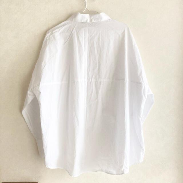 ZARA(ザラ)のZARA   ザラ ホワイト ブラウス シャツ レディースのトップス(シャツ/ブラウス(長袖/七分))の商品写真