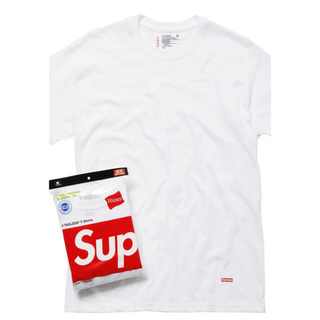 シュプリーム(Supreme)のシュプリーム&ヘインズのTシャツ3枚入り(Tシャツ/カットソー(半袖/袖なし))