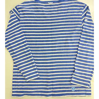 オーシバル(ORCIVAL)のオーチバル ボーダーシャツ デニムブルー サイズ5(Tシャツ/カットソー(七分/長袖))