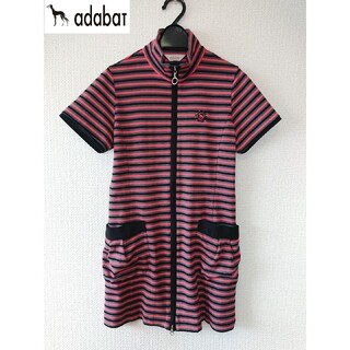 アダバット(adabat)の美品 ★アダバット★ 半袖ダブルジップボーダーウェア (M)(ウエア)