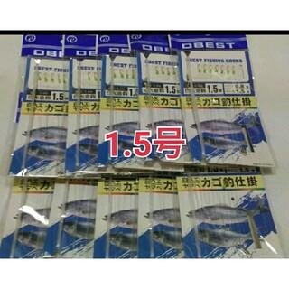 10点 ワカサギ仕掛け 1.5 白ハエ ヤマベ(釣り糸/ライン)