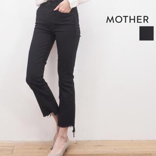 マザー(mother)のMOTHER denim INSIDER CROP STEP ブラック 24(デニム/ジーンズ)