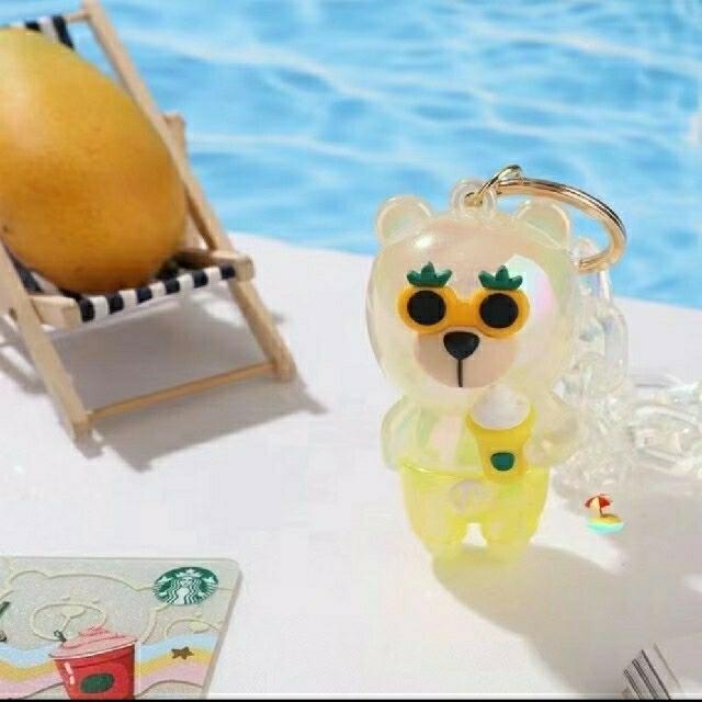 Starbucks Coffee(スターバックスコーヒー)のスターバックス中国夏限定 フラペチーノ 熊キーホルダー レディースのファッション小物(キーホルダー)の商品写真