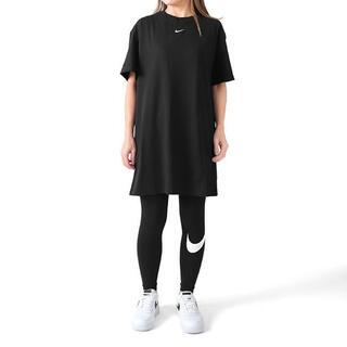 ナイキ(NIKE)の未使用品 NIKE Tシャツ ワンピース ブラック(ミニワンピース)