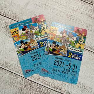 ディズニー(Disney)のディズニー リゾートライン フリー切符 2枚(遊園地/テーマパーク)