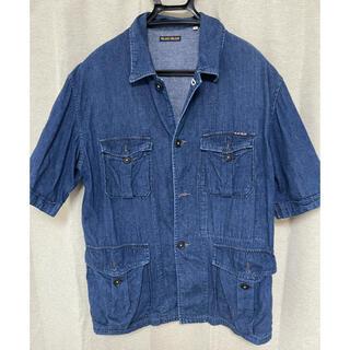ブルーブルー(BLUE BLUE)のHRM ハリラン デニム地 半袖 カバーオール L(シャツ)