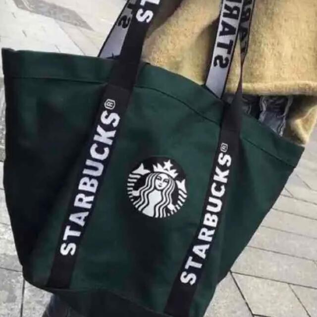 Starbucks Coffee(スターバックスコーヒー)の【すぐ発送可能】台湾 スターバックス 2way トートバッグ 大容量 バッグ レディースのバッグ(トートバッグ)の商品写真