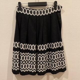 ケイトスペードニューヨーク(kate spade new york)のケイトスペード  ウールスカート 刺繍 グレー(ひざ丈スカート)