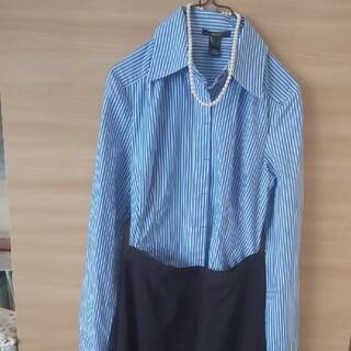 マンゴ(MANGO)の【MNG】ストライプシャツ(シャツ/ブラウス(長袖/七分))