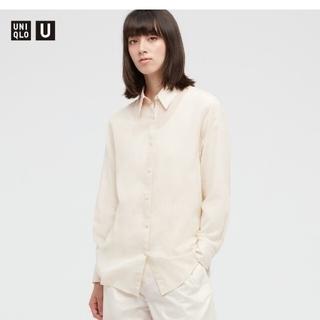 UNIQLO - ★お値下げ★ユニクロ シアーシャツ ナチュラル Mサイズ