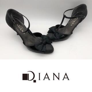 DIANA - Diana ダイアナ パンプス リボン 異素材MIX 23.0 美品