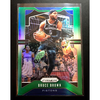 【400】 NBA カード Bruce Brown green prizm(シングルカード)