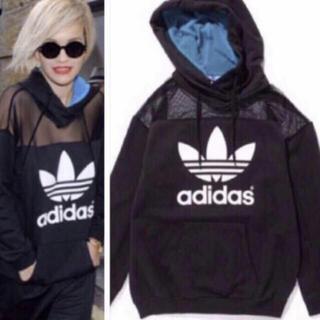 adidas - 希少 adidas × Rita Ora メッシュ ビッグ パーカー M 黒