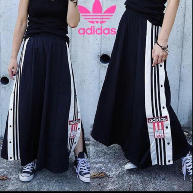 adidas(アディダス)の新品タグ付き adidas ADIBREAK LONG SKIRT 黒 S レディースのスカート(ロングスカート)の商品写真