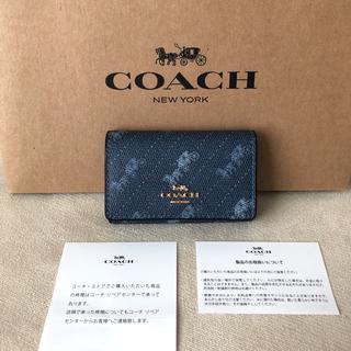 COACH - タグ付き新品★COACH 2021年春夏新作 レザー 5連キーケース(リング付)