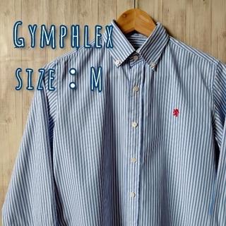 GYMPHLEX - Gymphrex(ジムフレックス) 長袖シャツ ストライプ