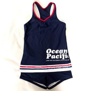 オーシャンパシフィック(OCEAN PACIFIC)のOp OceanPacific ガールズ水着 セパレート ネイビー(水着)