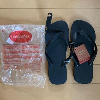 新品 ハワイアナス ビーチサンダル 黒 24.0〜24.5cm 37/38