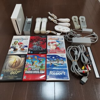 Wii - Wii 本体 ソフト6本セット コントローラー モーションプラス アクセサリー