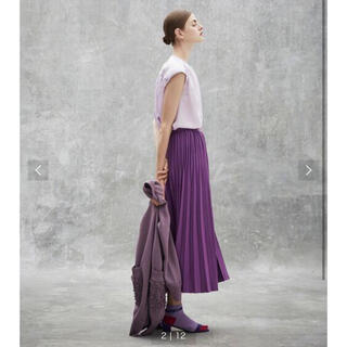 Drawer - 新品 Drawer 18Gニットプリーツスカート ブラミンク トゥモローランド