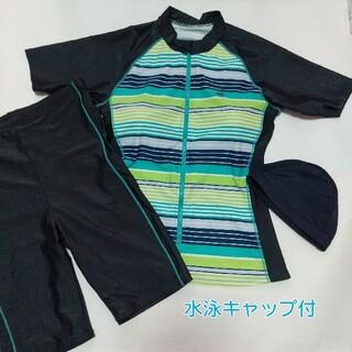 ジム・フィットネス用水着★15LL★水泳キャップ付き
