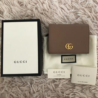 Gucci - GUCCI プチマーモント 二つ折り財布 美品