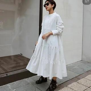 Drawer - 【大人気】マチャットMACHETT タキシードシャツワンピース ホワイト
