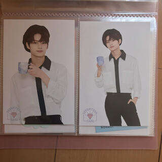 セブンティーン(SEVENTEEN)のジュン カフェ ポストカード コースター(K-POP/アジア)