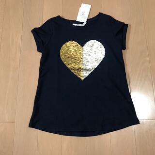 H&M - H&M スパンコール 変身 Tシャツ ハート