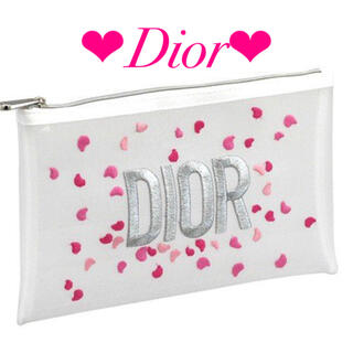 Dior - Dior ポーチ 花びら刺繍 メッシュ
