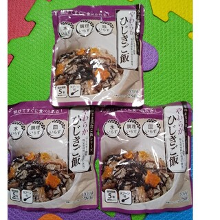 そのまま美食ご飯シリーズ やわらかひじきご飯 3袋セット(レトルト食品)