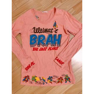rough スーパーマン ロングTシャツ ピンク