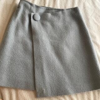 ウィルセレクション(WILLSELECTION)のくすみブルーのスカート(ミニスカート)