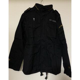 オゾック(OZOC)のOZOCオゾック フードがしまえるジャケット ブラック(ミリタリージャケット)