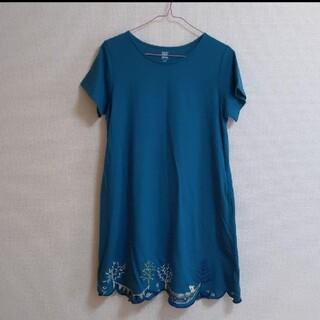 グラニフ ワンピース スカート裾刺繍