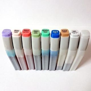 ツゥールズ(TOOLS)のコピック バリオスインク 8色+空ボトル1本(カラーペン/コピック)