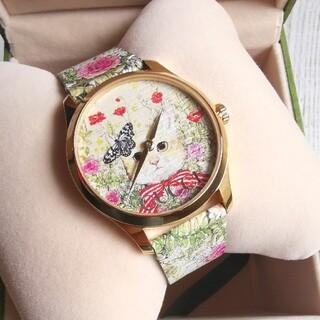 Gucci - 完売☆ グッチ並木限定 グッチ ヒグチユウコ 腕時計 ウォッチ & ショッパー