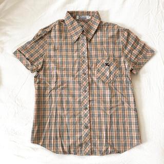 バーバリーブルーレーベル(BURBERRY BLUE LABEL)のバーバリー ブルーレーベル チェックシャツ 38(シャツ/ブラウス(半袖/袖なし))
