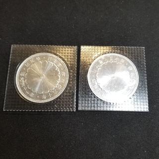 天皇陛下御在位60年記念 1万円銀貨 2枚(貨幣)