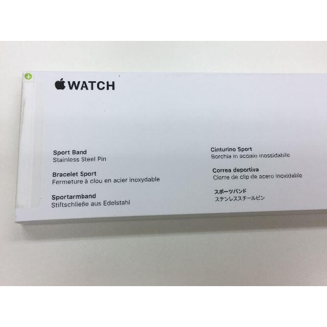 Apple Watch(アップルウォッチ)の未開封品 apple watch純正品バンド スポーツベルト スマホ/家電/カメラのスマートフォン/携帯電話(その他)の商品写真