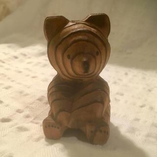 木彫り クマ 熊 熊ボッコ 木製 北海道(彫刻/オブジェ)