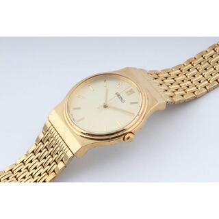 セイコー(SEIKO)の【送料無料】セイコー V701-2090 ユニセックス ゴールド N03089(腕時計(アナログ))